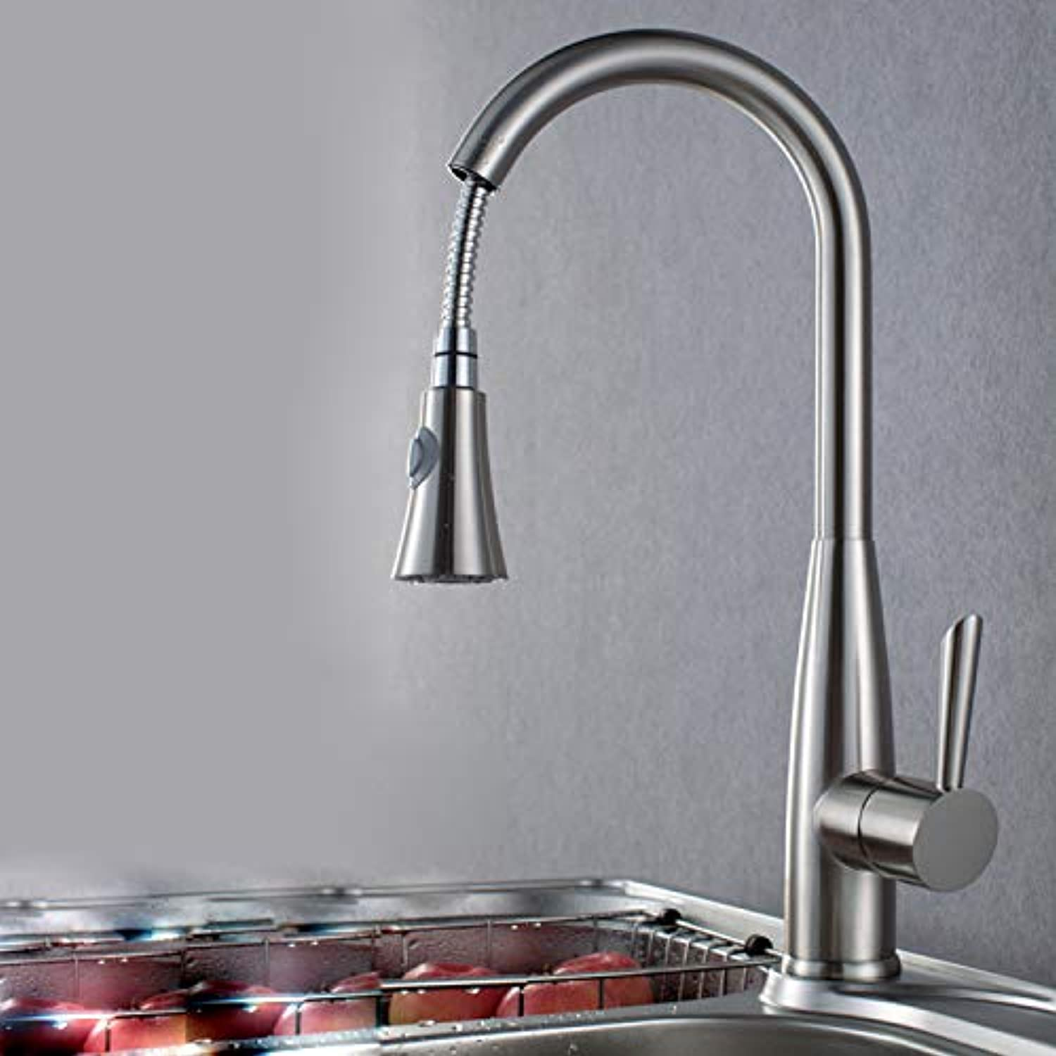 redOOY Taps Faucet Copper Pull Cold And Hot Water Basin Pull Kitchen Sink Faucet Drawing