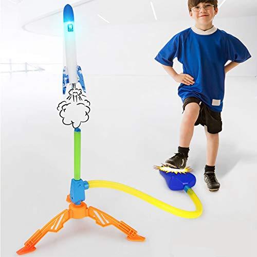 Raketenspiel Einstellbare Fußspielzeuge, Druckluft-Raketenwerfer Ideal Für Das Spielen Im Freien, Jungen Und Mädchen