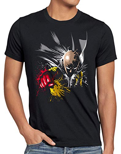 style3 Saitama Punch T-Shirt da Uomo One Anime Manga, Dimensione:XL