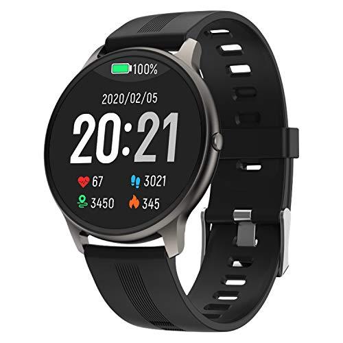 LIEBIG Montre Connectée Homme, Smartwatch Montre Intelligente Cadiofréquencemètre Etanche IP68 Moniteur de Pression Artérielle Sommeil Bracelet Connecté Fitness Tracker Podometre pour Android iOS