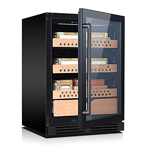 ZHAOHGJ 400 cigarros Cigar Gabineat - Blanco y Tinto Frigorífico refrigerador Encimera Enfriador de vinos - Freestanding Cigar Cigar Humidor 200 Capacidad, Control Digital, Puerta de Vidrio