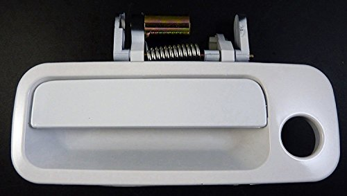 Eynpire 8069 Exterior Front Left Driver Side Door Handle Compatible with 1997-2001 Toyota Camry - White