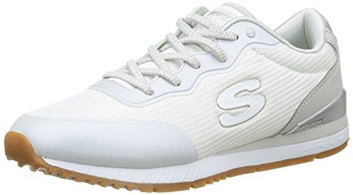 Skechers Sunlite-Vega, Zapatillas sin Cordones Mujer, Blanco (Wht), 41 EU