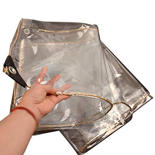 Lonas Impermeable Transparente,con Agujero de Metal,Prueba de Viento,A Prueba de Polvo Lona Cubierta,Lona Invernadero Pesada,con Borde Envolvente,Espesor 0,3mm,Personalizable(1.4x2m/4.6x6.6ft)