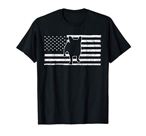 USA Flag Frenchie Pet Dog Patriotic American French Bulldog T-Shirt