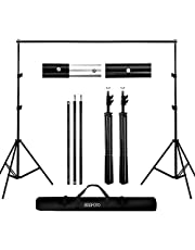 Backdrop Stand 6.5x6.5ft/2x2m, BDDFOTO Photo Video Heavy Duty Background Stand Support System for Parties with Carring Bag for Green Screen Muslin
