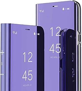 TAYLE för Xiaomi Mi Note 10 fodral, spegel sminkväska klar vy halvtransparent fodral stativ funktion full kropp 360° skydd...
