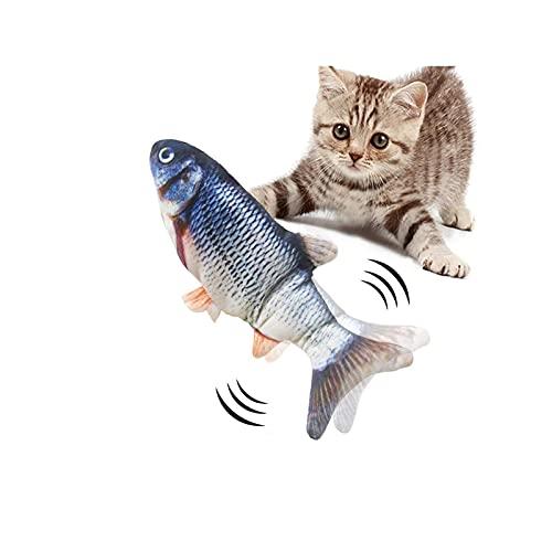 猫 おもちゃ 電動猫用おもちゃ ぬいぐるみ 動く魚おもちゃ 爪 噛む 歯磨きおもちゃ ダイエット ストレス解消 ペットおもちゃ USB充電式