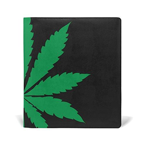 My Daily Marijuana Leaf von Cannabis wiederverwendbar Leder Buch 22,9x 27,9cm für mittlere bis Größe Jumbo Hardcover Schulbücher lehrbüchern.