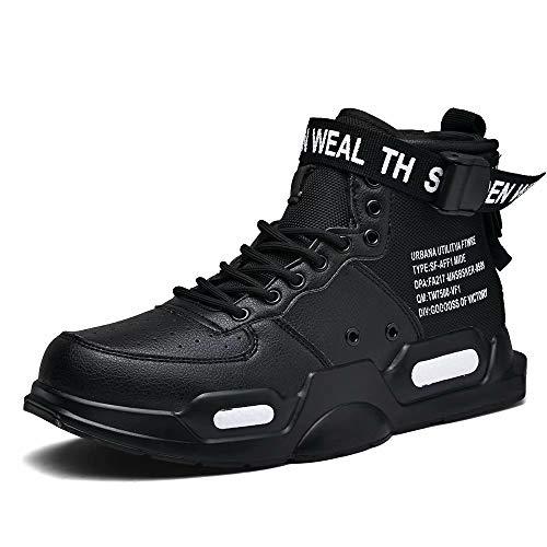XIDISO Unisex-Erwachsene Freestyle Hohe Sneakers Herren Mode Turnschuhe Freizeitschuhe Sportschuhe,42 EU,Schwarz 1