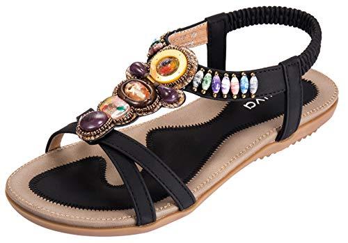 Damen Sommer Sandalen, Schwarz