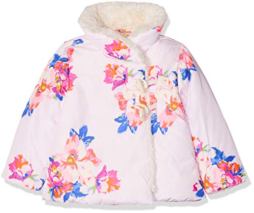 Joules Baby-Mädchen Fleecy Mantel, Pink (Pink Marl Granny Floral), 86