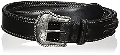 Nocona Belt Co. Men's Top Hand Black Wipstitch, 34