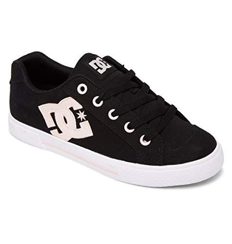 DC Shoes Femme Chelsea Sneaker, Black/PINK, 39 EU