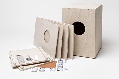 Kit di costruzione per Cajon completo di cordiera (Snare-Cajon), made in Germany