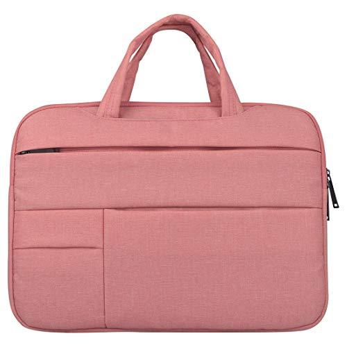 Laptoptasche für 15,6 Zoll Acer Aspire 3 / Aspire 5 / Chromebook / Swift 3 und kleiner, rosa, mit Tragegriffen Zusatzfächern, Smartphone-Tasche, aus Polyester, Notebooktasche, Laptophülle, Sleeve