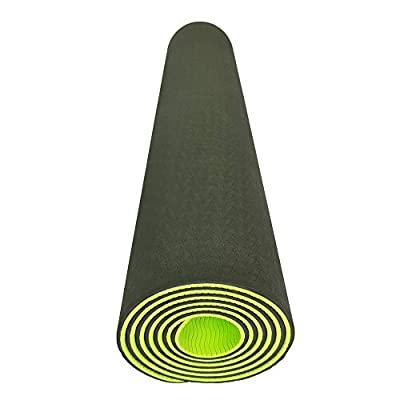 Rico Store Eco-Friendly TPE Yoga Mat 100% Latex Free & PVC Free (Chloride Free) with Carrying Strap