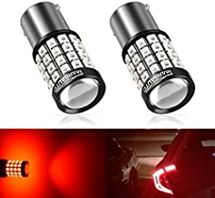 1156/7506/1141 LED Reverse Backup Bulbs, 2019 UPGRADED Fast Heat Dissipation 1200 Lumen Marsauto 52 SMD 3030/2835 Chip Sets Stop Tail Light Lamp Bulbs Replacement. Red