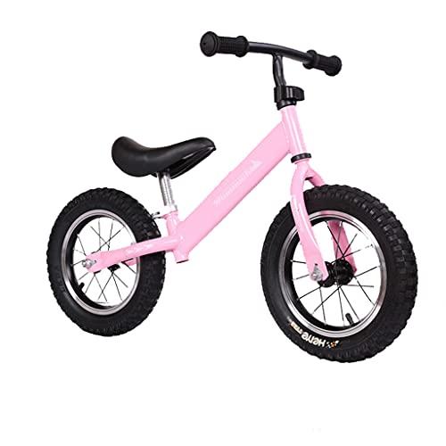 Rueda de bendición de Acero con Alto Contenido de Carbono de 12 Pulgadas sin Pedales Bicicleta de Equilibrio para niños de 1-3-6 años (Rojo, Rosa, Azul, Negro)