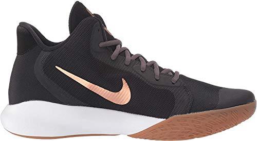 Nike Unisex-Kinder Precision Iii Basketballschuhe, Mehrfarbig (Black/Metallic Copper/Thunder Grey 006), 35.5 EU