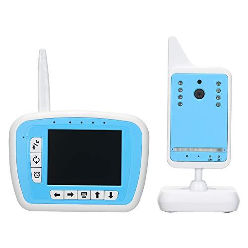 Walmeck Monitor inalámbrico para bebés de 3,3 Pulgadas y 2,4 GHz + Soporte para cámara Emparejamiento automático Plug and Play 2 vías Charla IR Visión Nocturna Temperatura Linterna Música VOX Batería