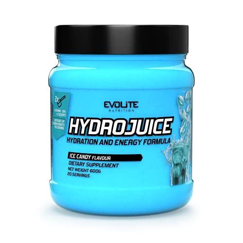Evolite Nutrition HydroJuice 600 g - Bevanda Isotonica - Elettroliti Integratore - Isotonic Drink - Integratori Ciclismo (Caramelle di ghiaccio)