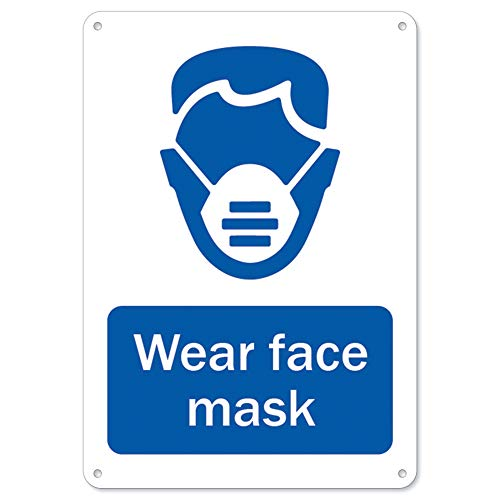 SignMission Coronavirus (COVID-19) - Wear Face Mask | Plastic Sign | Protect Your Business, Municipality, Home & Colleagues | Made in The USA, 10' X 7' Rigid Plastic (OS-NS-P-710-25581)