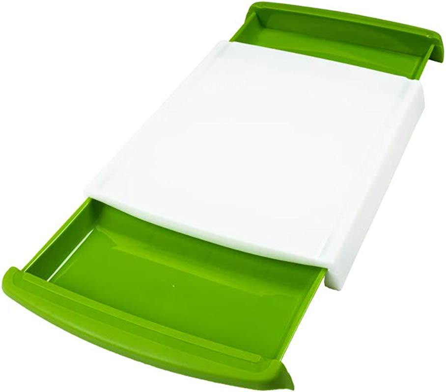 Holocraft Premium Plastic Cutting Board With Detachable Trays For Kitchen Larger Thicker Boards Eco Friendly BPA Free And FDA Approved Deep Drip Juice Grooves Non Porous Dishwasher Safe