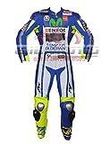 Rossi - Tuta in vera pelle per moto da corsa CE corazzata in un unico e due pezzi (S (48) (48) ) (2XL (46) (EU 56)