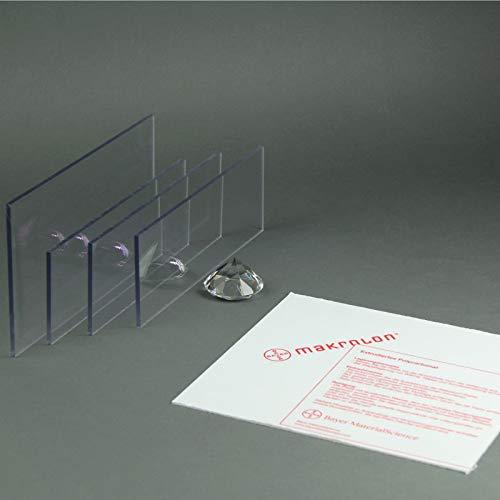 color transparente Lexan/ /Placa de policarbonato de 2,0/mm en formato de panel 1250/x/680/mm