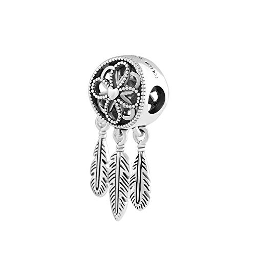 Diy Gift Beads Charms Silver 925 Original Bracelet Sterling Silver Jewelry Spiritual Dream Catcher Bead For Jewelry
