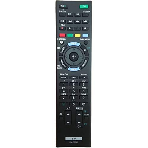 RM-ED047 Reemplazo de Control Remoto para Sony Bravia TV - Compatible con Todos los Controles remotos de Sony TV RM-YD103 RM-ED047 rm-ed050 rm-ed060 rm-ed061 KDL-40HX750 KDL-46HX850 KDL-32R300B