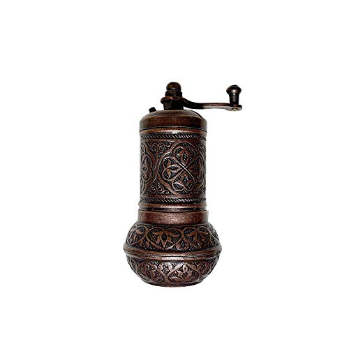 """Premium Pepper Grinder & Salt Shaker - Zinc Alloy Casting Best Carving Metal - Spice and Coffee Mill - Adjustable Coarseness - Turkish Coffee Grinder and Spice Mill 4,2"""""""