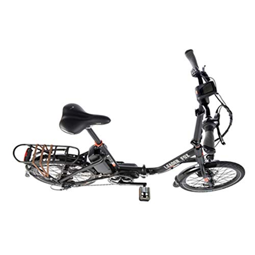 Fahrrad Electrique-Vae Klappbar City Leader Fox 20'' Harlan 2019 Gemischt Motor Zentralverriegelung Bafang m300 36v 250w Alu Schwarz Mast-Orange 7v
