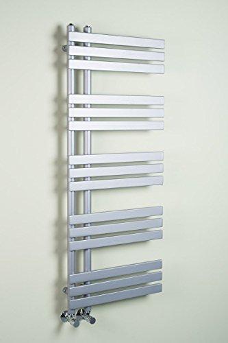 Warmehaus Designer Handtuchheizkörper Badheizkörper 1272 x 500 mm Silber