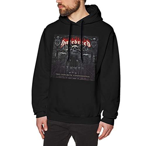Hatebreed The Concrete Confessional Men's Hoodies Sweatshirt Long Sleeves Loose Fit Hooded Jacket Hoody Sweater Small Black