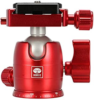 Sirui B-00 Aluminum Mini Ball Head with TY-C10 Plate, 11 lb Capacity, Red