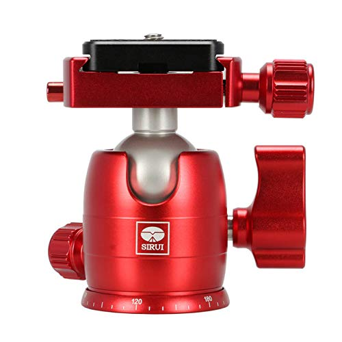 Great Price! Sirui B-00 Aluminum Mini Ball Head with TY-C10 Plate, 11 lb Capacity, Red