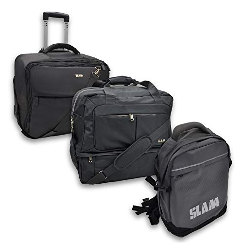SLAM Trolley - Bag palestra - Zaino Moto (Set di valigie, Nero)
