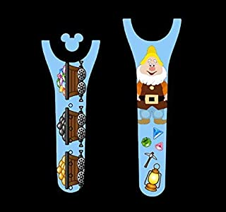 Vinyl Skin Decal Wrap Sticker Cover for the MagicBand 2 Magic Band 2 Happy Dwarf Themed