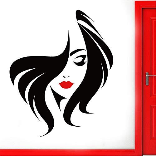 stickers muraux pr Salon de beauté manucure ongles salon main fille visage décor à la maison coiffeur coiffure