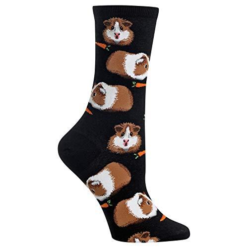Hot Sox Damen-Socken mit Meerschweinchen-Motiv - Schwarz - Einheitsgröße