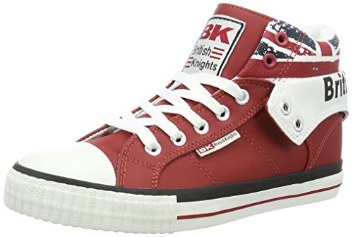 British Knights Damen ROCO High-Top, Rot Red Union Jack, 37 EU