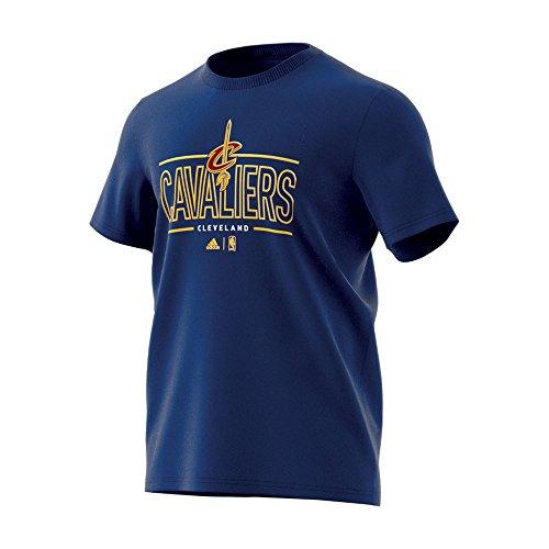 adidas GFX tee 3 Camiseta Cleveland Cavaliers de Baloncesto, Hombre, Multicolor (Nbacca), M