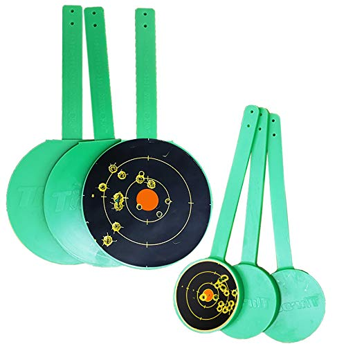 THROOM HangTuff Self-Healing Targets+ Splatter Target Stickers, Reactive & Ricochet-Free Shooting Targets (6 Hanging Targets + 65 Splatter Stickers)