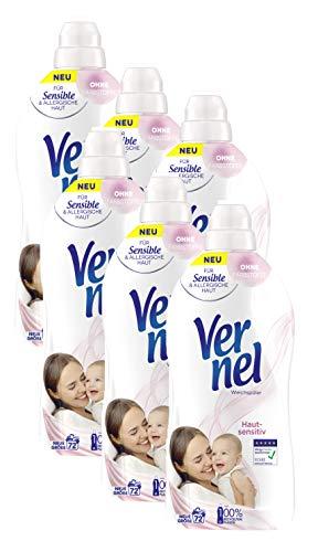 Vernel Hautsensitiv, Weichspüler für Allergiker, mit mildem Duft (432 (6 x 72) Waschladungen)