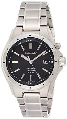 Seiko Herren Analog Kinetik Uhr mit Edelstahl Armband SKA763P1