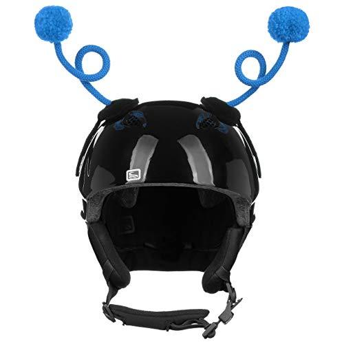 Eisbär Ping Pong Helmaufkleber Helmsticker Helmdeko Sticker für Skihelm (One Size - blau)