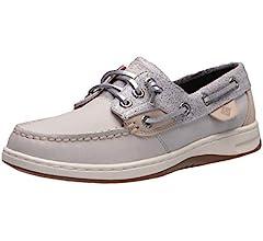 Rosefish Sparkle Boat Shoe, Grey