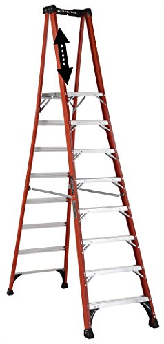 Louisville Ladder FXP1808HD Fiberglass Ladder, 8-feet, Orange